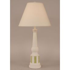 Coastal Lamp Striped Pedestal Accent Lamp - Weathered Nude/Lime Accent