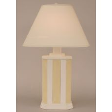 Coastal Lamp Rectangle Stripe Pot - Weathered Nude/Golden Rod Accent
