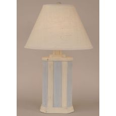 Coastal Lamp Rectangle Stripe Pot - Cottage/Seaside Villa Accent