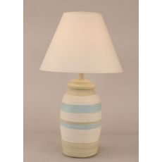 Coastal Lamp Small Ribbed Pot