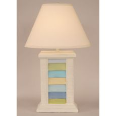 Coastal Lamp Rectangle Shutter Pot