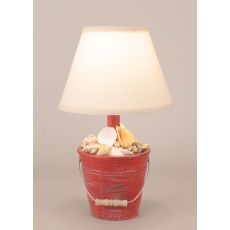 Coastal Lamp Mini Bucket Of Shells