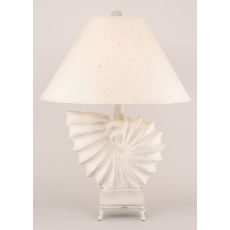 Coastal Lamp Nautilus Shell w/Iron Stand