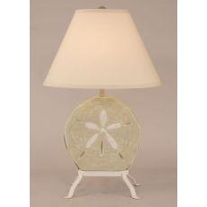 Coastal Lamp Sand Dollar W/ Iron Stand