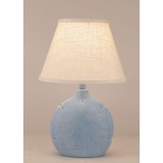 Coastal Lamp Sand Dollar Accent Lamp - Weathered Wedgewood Blue