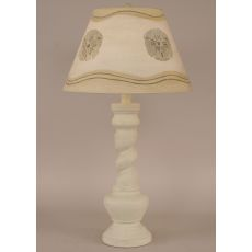 "Coastal Lamp ""B"" Pot W/ Twist And Sand Dollar Lamps Shade"