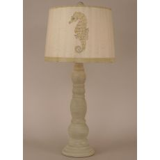 Coastal Lamp Big 4 Ring Candlestick Pot - Cottage Shoreline Tan