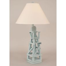 Coastal Lamp Life Guard Chair Table Lamp - Weathered Atlantic Grey