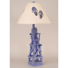 Coastal Lamp Life Guard Chair Table Lamp - Cottage Blueberry