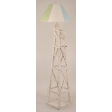 Coastal Lamp Life Guard Chair Floor Lamp