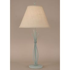 Coastal Lamp Iron Stack W/ Braided Wire Table Lamp