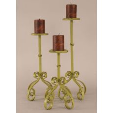 Coastal Lamp 3 Piece Candle Stand Set - Lime