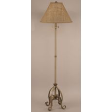 Coastal Lamp Iron Plain Pedestal Floor Lamp