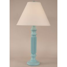 Coastal Lamp Ribbed Table Lamp - Weathered Turquoise Sea
