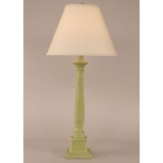 Coastal Lamp Square Candlestick Table Lamp - Cottage Lime
