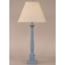 Coastal Lamp Square Candlestick Table Lamp - Weathered Wedgewood Blue