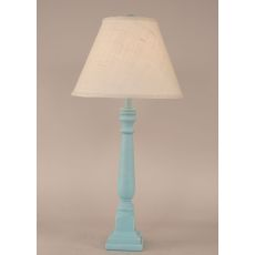 Coastal Lamp Square Buffet - Weathered Turquoise Sea