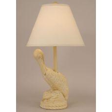 Coastal Lamp Pelican - Yellow Gold Wash