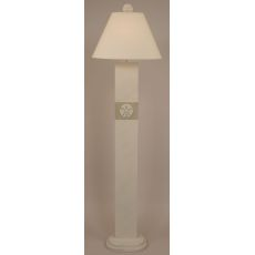 Coastal Lamp Sand Dollar Panel Floor Lamp