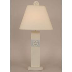 Coastal Lamp Sand Dollar Panel Table Lamp - Cottage Shoreline Haze/Seaside Villa