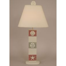 Coastal Lamp 3-Panel Multi Shell Table Lamp