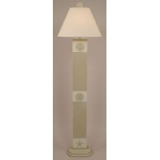 Coastal Lamp 3-Panel Multi Shell Floor Lamp