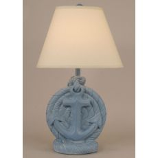 Coastal Lamp Anchor - Wedgewood Blue Wash
