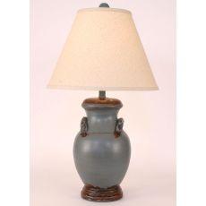 Coastal Lamp Crock Pot W/ Handles - Aged Wedgewood Blue