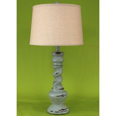 "Coastal Lamp ""B"" Pot W/ Twist - Heavy Distressed Atlantic Grey"