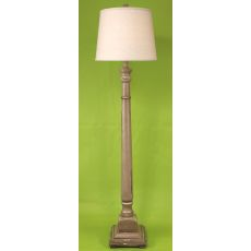 Coastal Lamp Square Candlestick Floor Lamp - Heavy Distressed Grey