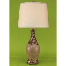 Coastal Lamp Ribbed Neck Tear Drop Lamp - Vintage