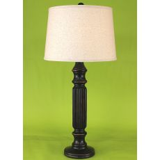 Coastal Lamp Ribbed Table Lamp - Distressed Black