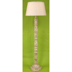 Coastal Lamp Square Candlestick Floor Lamp - Crackle Cottage