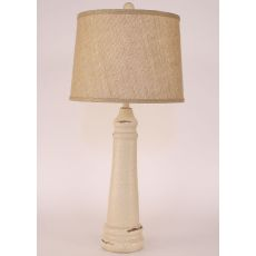 Coastal Lamp Slender Pyramid Pot W/ Round Base