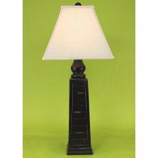 Coastal Lamp Pyramid Pot - Distressed Black