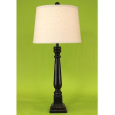 Coastal Lamp Square Buffet - Distressed Black