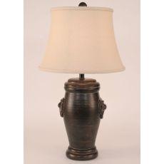 Coastal Lamp Crock Pot w/Door Knocker Accent