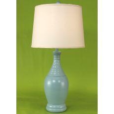 Coastal Lamp Ribbed Neck Tear Drop Lamp - High Gloss Atlantic Grey