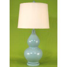 Coastal Lamp Swirl Pot - Glazed Light Chocolate High Gloss