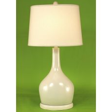 Coastal Lamp Oval Pot W/ Long Neck - High Gloss Cottage