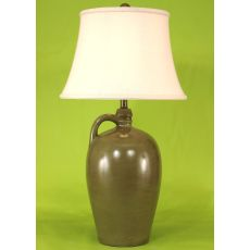 Coastal Lamp 1 Handle Pottery Pot - Glazed Moonlight Beach High Gloss