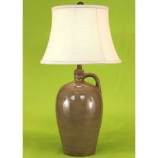 Coastal Lamp 1 Handle Pottery Pot - Glazed Olive High Gloss