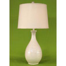 Coastal Lamp Ridged Tear Drop - Antique Light Nude High Gloss