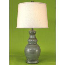 Coastal Lamp Classic Casual Pot - Atlantic Grey Glaze High Gloss