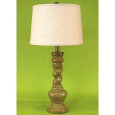 "Coastal Lamp ""B"" Pot W/ Twist - Lime Glaze High Gloss"