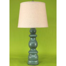 "Coastal Lamp ""B"" Pot - Turquoise Sea Glaze High Gloss"