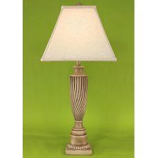 Coastal Lamp Swirl Pot W/ Square Base - Cottage Glaze High Gloss