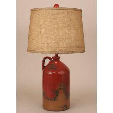 Coastal Lamp 1 Handle Pottery Jug - Firebrick