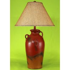 Coastal Lamp 3 Handle Pot - Firebrick