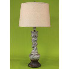 "Coastal Lamp ""B"" Pot W/ Twist - Greystone"